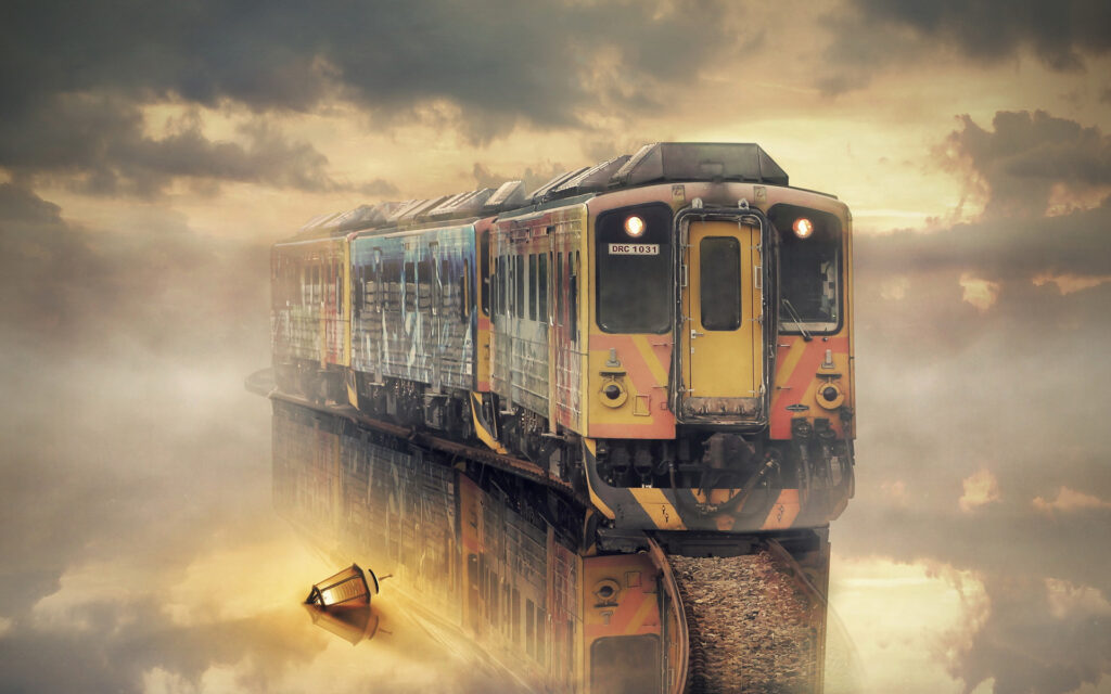 train background images