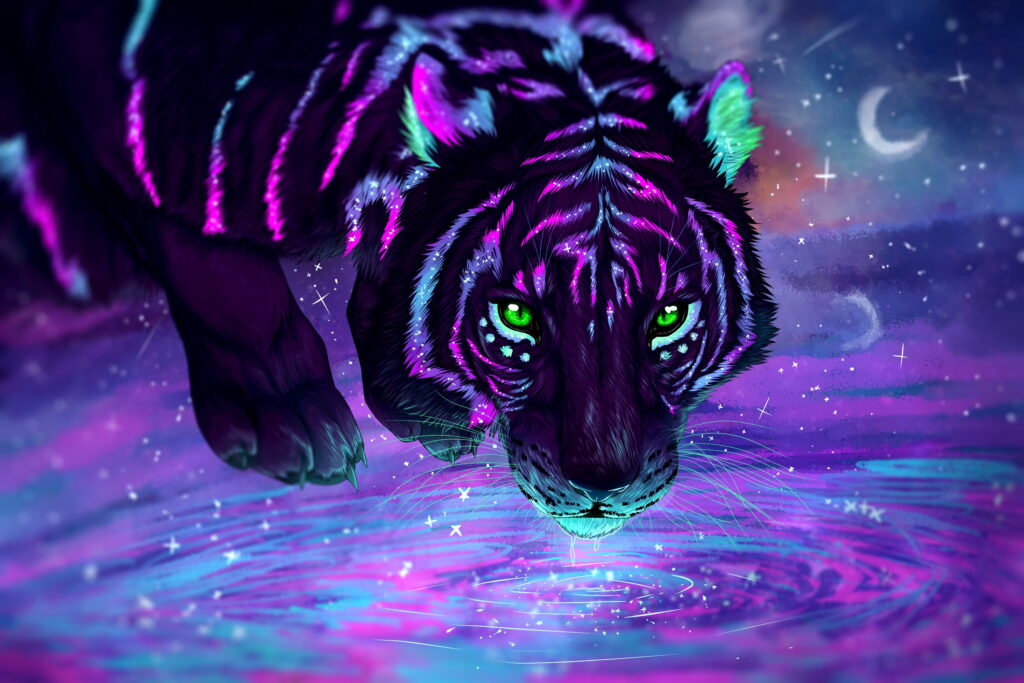 neon tiger cool wallpapers