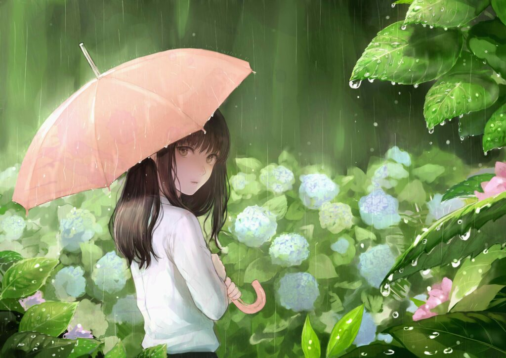anime green wallpapers