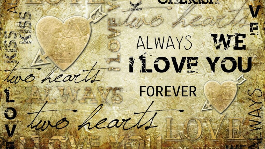 typography love wallpapers