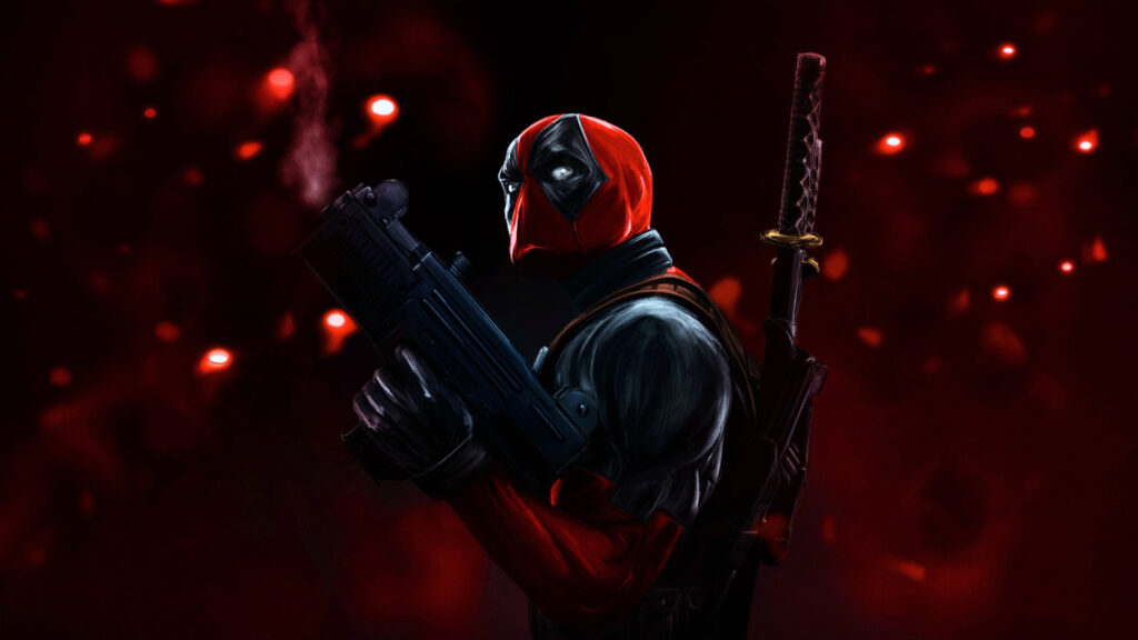 dead pool red wallpapers